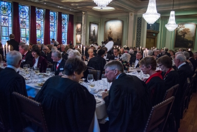 Election and Awards dinner conversation in Painters Hall